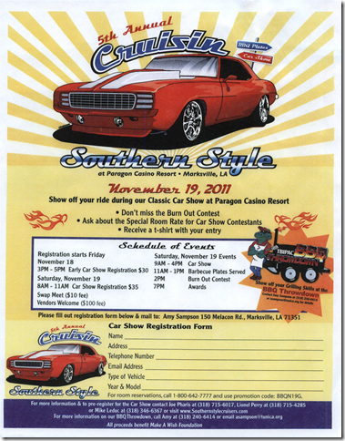 2011 5th Annual Cruisin Southern Style Flyer